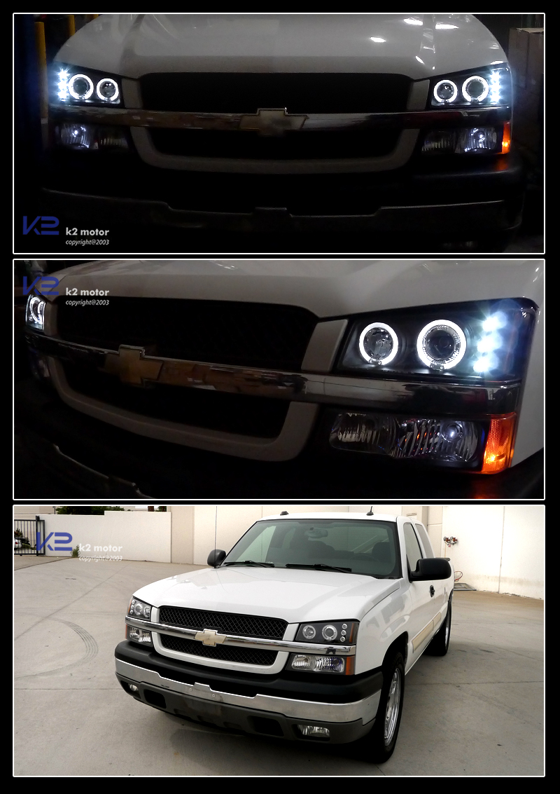 Combo Black Halo Led Projector Headlights Per Lights Inset 2
