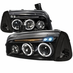 COMBO: Black Halo LED Projector Headlights + Corner Lights