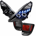 COMBO: Black Halo LED Projector Headlights + LED Tail Lights