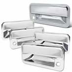 COMBO: Chrome 4 Piece Door Handle + Tailgate Handle Covers