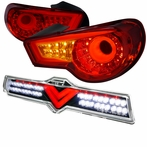 COMBO: Red LED Tail Lights + 3rd Brake Lights