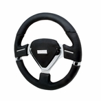 Millennium Evo Style Black Leather Steering Wheel 330Mm (Black)
