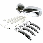 Mirror Cover Door Handle Pillar (Chrome)
