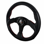 Momo Race Style Steering Wheel With Red Stitching (320mm)