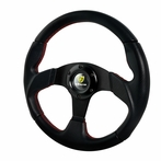 Momo Race Style Steering Wheel With Red Stitching K2 (320mm)