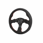 Nrg Steering Wheel Jet Style With Real Leather Red Stitch (Universal)