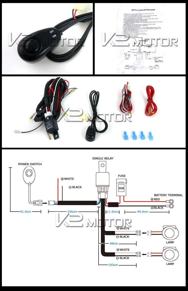 Off Road LED Working Lights Wiring Kit (4x4)