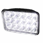 One 4x6 15-LED Chrome Headlight