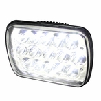 One 7x6 15-LED Chrome Headlight