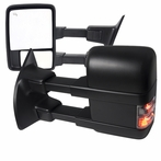 Power + Heated Towing Mirrors with LED Signals (Black)