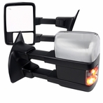 Power Heated Towing Mirrors with LED Signals (Chrome/Black)