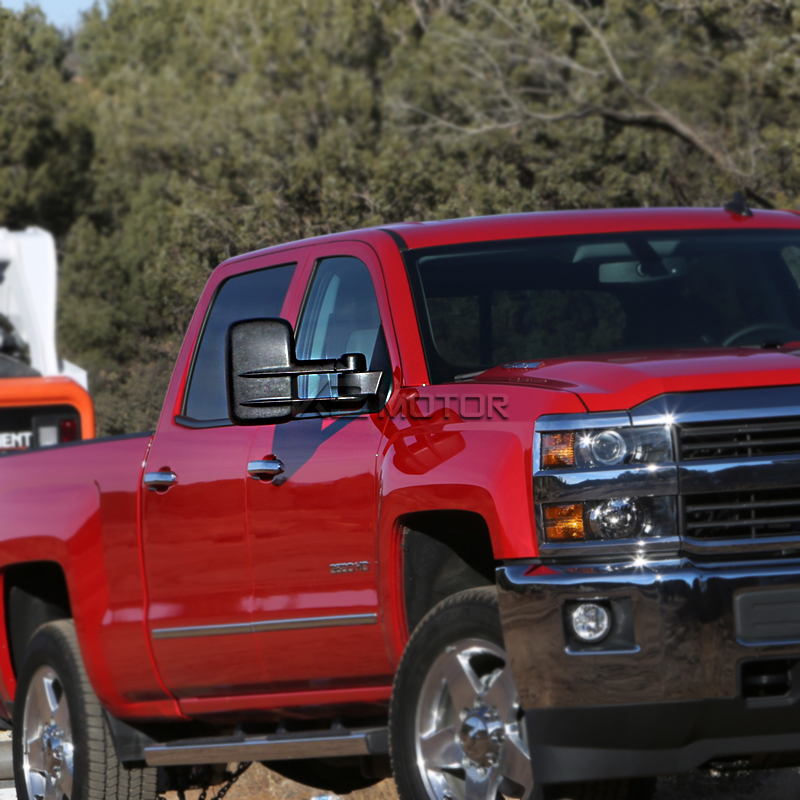2014 2016 chevy silverado 1500 power towing mirrors with heat function. Black Bedroom Furniture Sets. Home Design Ideas