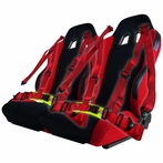 Reclinable Sport Racing Seats + 4 Point Harness Belts (2PC)