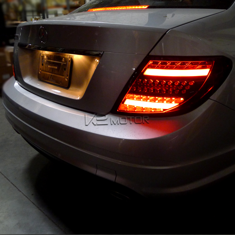2008 2011 mercedes benz w204 c class 3d led tail lights red for Led light for mercedes benz