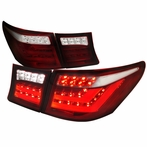 Red/Clear LED Tail + Trunk Lights (4PCS)