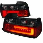 Red/Smoke 3D Bar Tail Lights