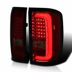 Red/Smoked LED Bar Tail Lights