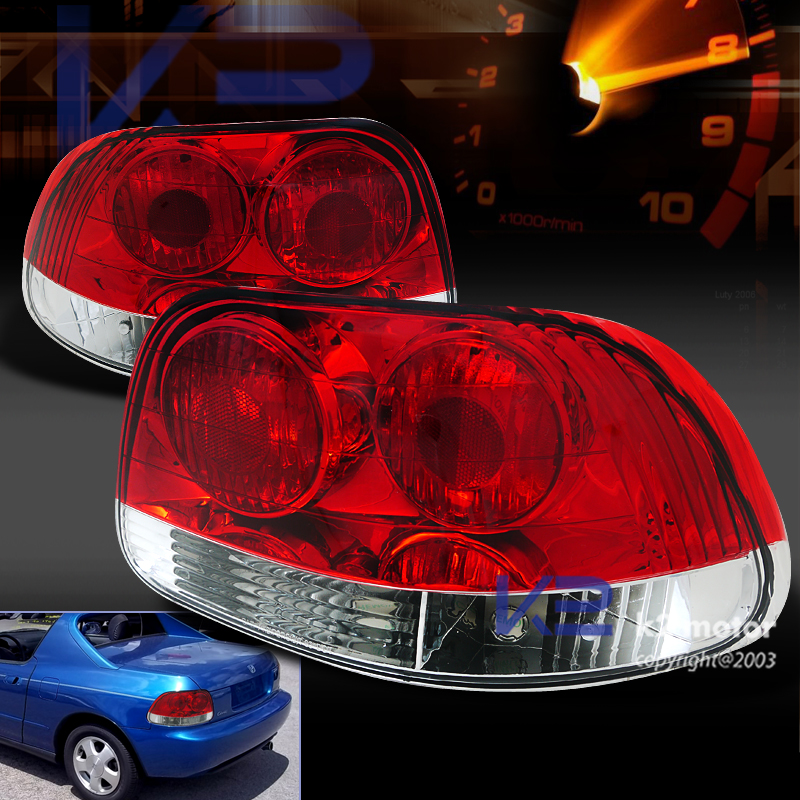 1993-1997 Honda Del Sol Tail Lights  Clear