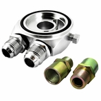Silver Oil Filter Sandwich Adapter Kit