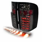 "Smoked COMBO: Smoke LED Tail Lights + 60"" LED Tailgate Light Bar"