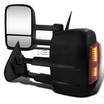Smoked LED Extending Towing Mirror with Heat Function (Powered)