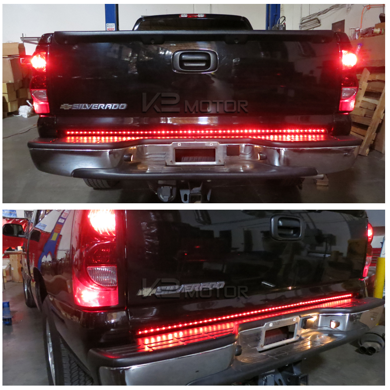 60 tailgate led light bar signal brake lights aloadofball