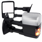 Power + Heated Towing Mirrors with LED Signals (Black/Chrome)