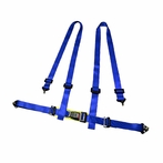 Universal 4 Point Racing Seat Belt Harness (Blue)