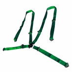 Universal 4Pt Camlock Racing Seat Belt Harness (Green)