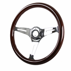 Universal 6-Bolt Wooden Steering Wheel 350mm