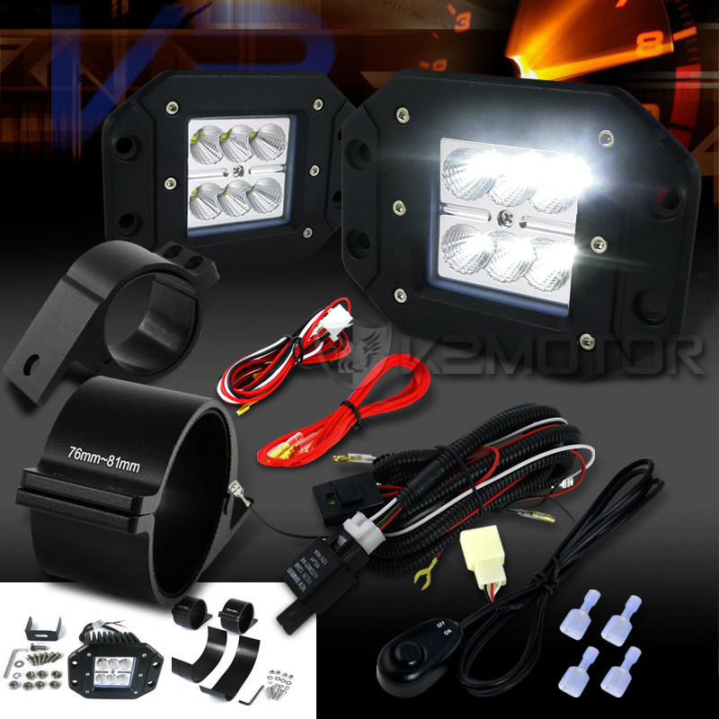 universal 6 led flood beam off road fog lights wiring harness 3 hella rocker switch wiring click to enlarge