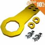 Universal Billet Style Aluminum Front Tow Hook (Gold)