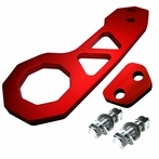 Universal Billet Style Aluminum Rear Tow Hook (Red)