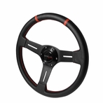 Universal Deep Dish Steering Wheel 330MM (PVC Leather)