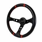 Universal Deep Dish Steering Wheel 350MM (PVC Leather)
