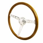 Universal Deep Dish Style Steering Wheel 360MM Wood