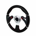 Universal F16 - Style Steering Wheel 320Mm (Black)