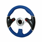 Universal F16 - Style Steering Wheel 320Mm (Blue)