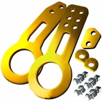 Universal Front and Rear Aluminum 2pc Tow Hook Kit (Gold)
