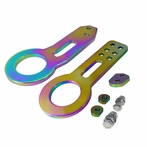 Universal Front and Rear Aluminum 2pc Tow Hook Kit (Neo Chrome)
