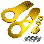 Universal Front and Rear Billet Style 2pc Tow Hook Kit (Gold)