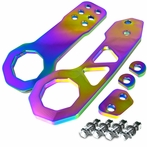 Universal Front and Rear Billet Style 2pc Tow Hook Kit (Neo Chrome)
