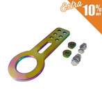 Universal JDM Style Aluminum Front Tow Hook (Neo Chrome)