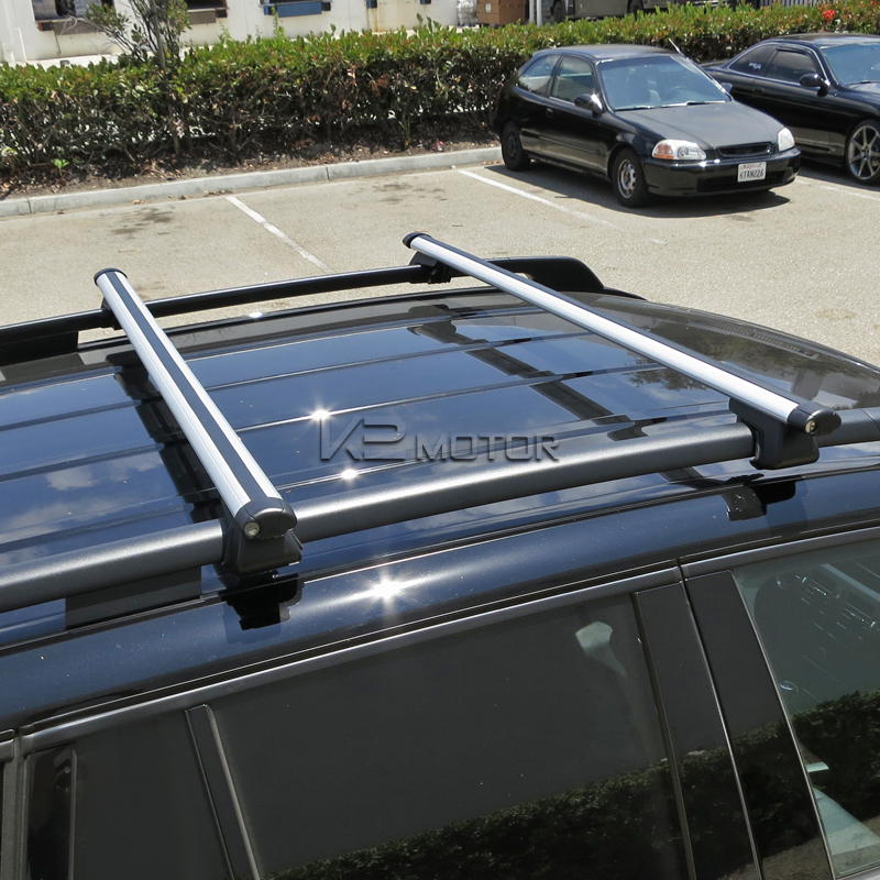 Universal Pair Of Aluminum Roof Rack Bars   48 Inch   Inset 7