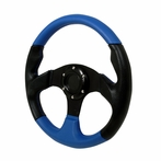 Universal Type - 2 Style Steering Wheel 320Mm  (Black/Blue)