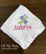 Baby Blanket with Applique Design - Many Design Choices