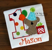 First Birthday Bear Shirt