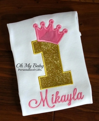 Gold Glitter Pink Crown