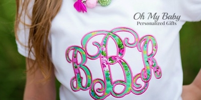 Fancy Monogram Applique