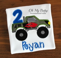 Monster Truck Birthday Shirt